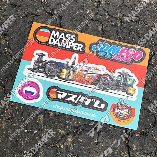 Mass Damper x JDM EGO Collab. Sticker Sheet A