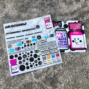LIMITED - Mass/Dam x JUN WATANABE Decal & Sticker Set