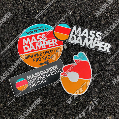 Mass Damper Logo Sticker Set - 4 Pack