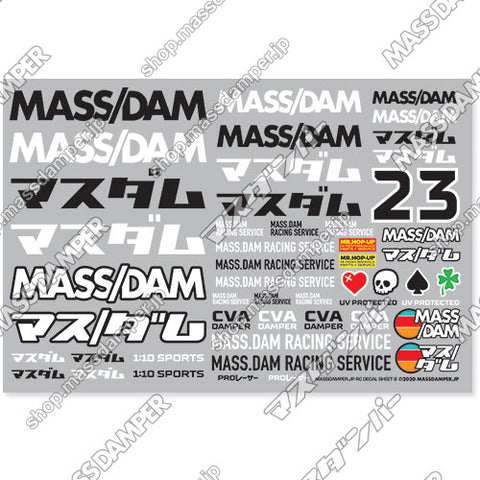Mass/Dam RC Decal Sheet B