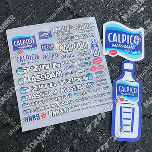Mass/Dam x Calpico Collab. Decal & Sticker Set