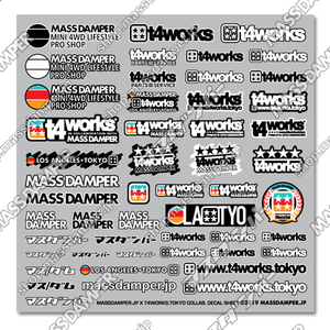 LIMITED - Mass Damper x T4works Tokyo Collab. Decal Sheet A