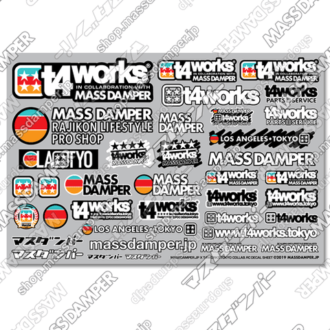 LIMITED - Mass Damper x T4works Tokyo Collab. RC Decal Sheet