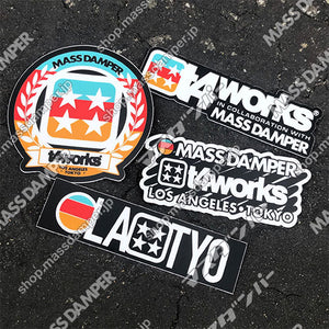 LIMITED Mass Damper x T4works Tokyo Sticker Set - 4 Pack