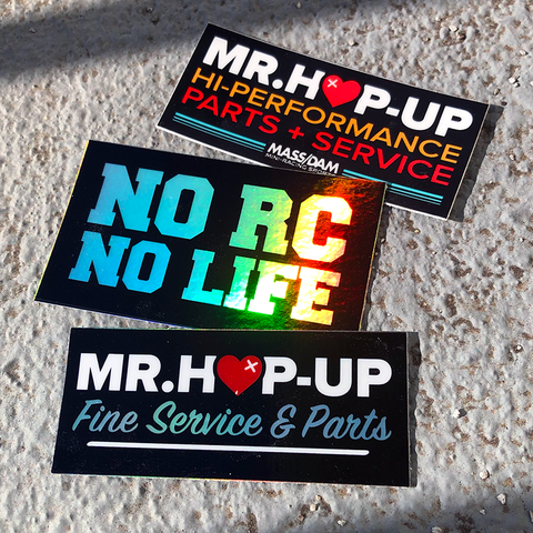 Mr. Hop-Up No RC No Life Sticker Pack