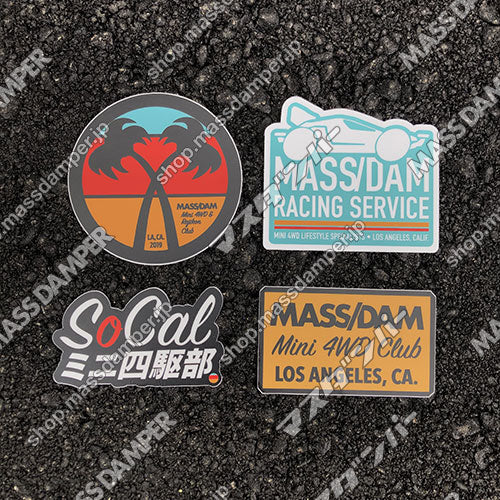 Mass Damper SoCal Sticker Set - 4 Pack