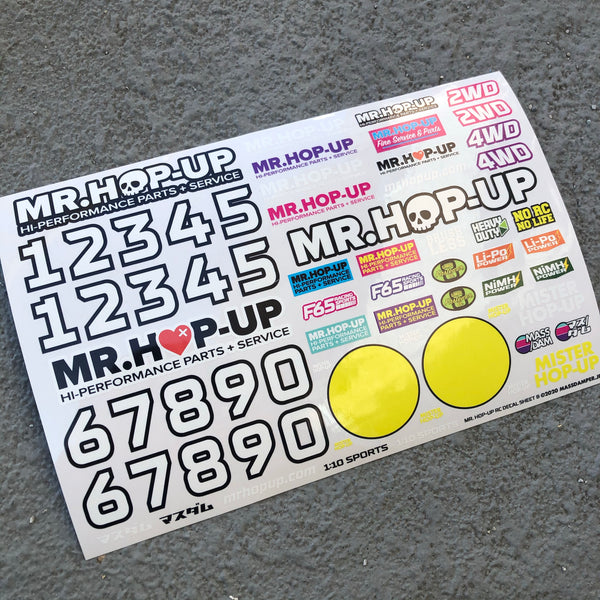 Mr. Hop-Up RC Decal Sheet A