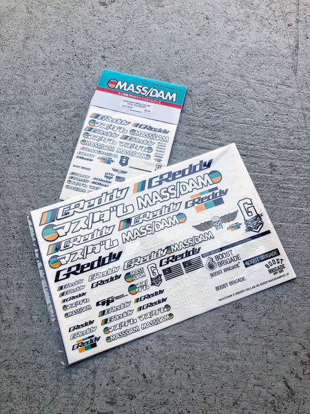 Mass/Dam x GReddy Collab. RC Decal Sheet