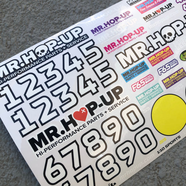 Mr. Hop-Up RC Decal Sheet B