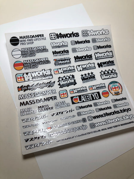 Mass/Dam x T4works Tokyo Collab. Mini Decal Sheet