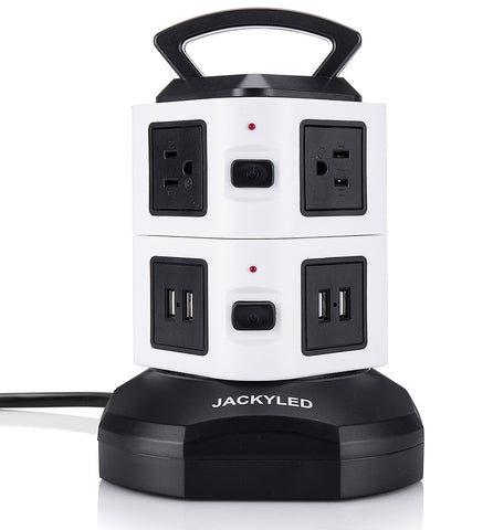 JACKYLED Power Strip Tower - Surge Protector Electric Charging Station - Ecosmart Product