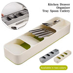 New Kitchen Drawer Organizer Tray Spoon Cutlery Separation Storage Box - Ecosmart Product