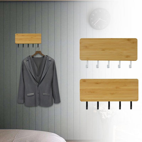 Home Bargains Wall Hook Space Saving Storage Rack Vintage Key Wooden Hanger - Ecosmart Product