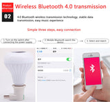 Smart Bulb Bluetooth LED Light Wireless Audio Speaker Music Playing Dimmable Lamp With Remote Control - Ecosmart Product