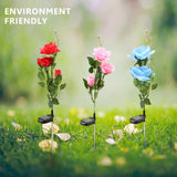 Solar Powered Garden Rose Lawn Lights Waterproof Flower Decoration for Home Garden Landscape - Ecosmart Product
