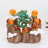 Dragon Ball Z Action Figures Set Dragon Shenron Collectible Model Toys DBZ With Mountain Shelf - Ecosmart Product