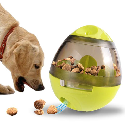 Lucky Dog Bite Toy Tumbler Leakage Ball Pet Dispenser Chewing Toy for Medium Large Dogs - Ecosmart Product