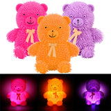 Novelty Flashing Light Puffer Bear Squidgy Sensory Toy Activity Play Ball - Ecosmart Product