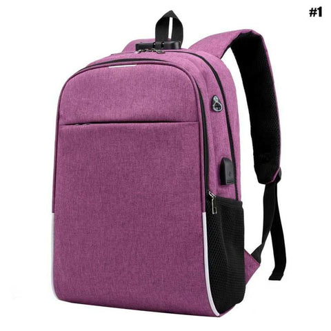 Bookbag Backpack School Burglar Bag USB Charging Double Shoulder Cloth Computer Leisure Male Bag - Ecosmart Product