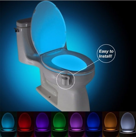 Automatic Sensor Toilet Seat Night Light LED lamp 8 Colors lighting Sensitive Motion Activated LED Bulb - Ecosmart Product