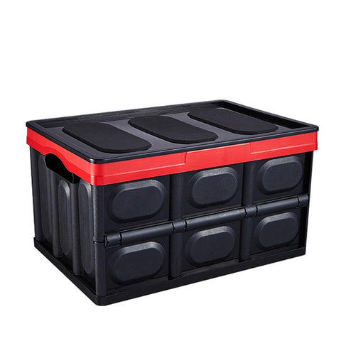 Foldable Storage Box With Lid Car Trunk Organizer Storage Box Plastic Convenient For Car Truck Jeep SUV Travel - Ecosmart Product
