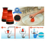 Air Drain Blaster Cannon Fluid Manual High Pressure Toilet Bath Kitchen Sink Plunger - Ecosmart Product