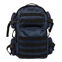 Tactical Backpack - Blue with Black Trim