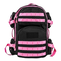 Tactical Backpack - Black with Pink Trim