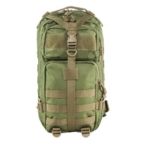 Small Backpack - Green with Tan Trim