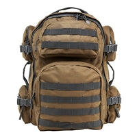Tactical Backpack - Tan with Urban Gray Trim