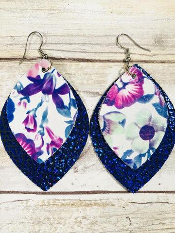 Tilu Designs Eliza Earrings - Blue - Be Unique Boutique