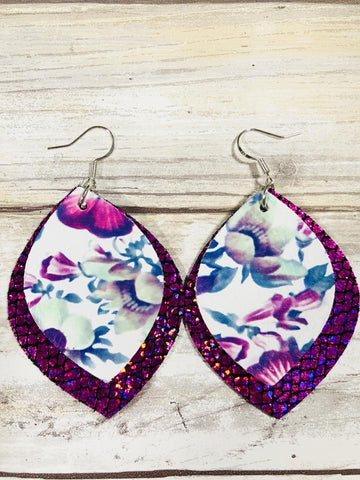 Tilu Designs Eliza Earrings - Purple - Be Unique Boutique