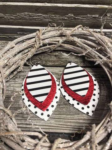 Tilu Designs Tilly Earrings - Red - Be Unique Boutique