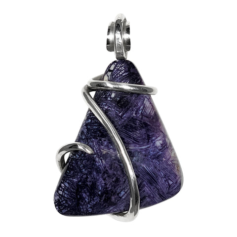 Tiffany Stone Pendant  Hand Wrapped in Silver