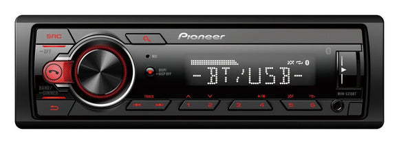 Pioneer MVH-S215BT Multimedia Tuner with Bluetooth, USB & Android Smartphone support.