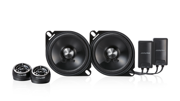 Alpine STE-G100S Type-E 4″ Component 2-Way Speaker