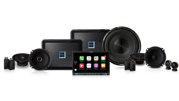 Alpine X308-190901 Ultra High-End Audiophile 8″ Navigation System Pack (X308AU, PDX-M12 and PDX-F6 Mono and 4-Ch Amplifiers, X-Premium Sound Speakers and X-Series 12″ Subwoofer)