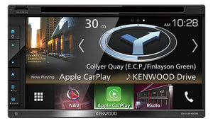 Kenwood DNX5180SN AV Navigation System with 6.8inch WVGA Clear-coated Resistive Display