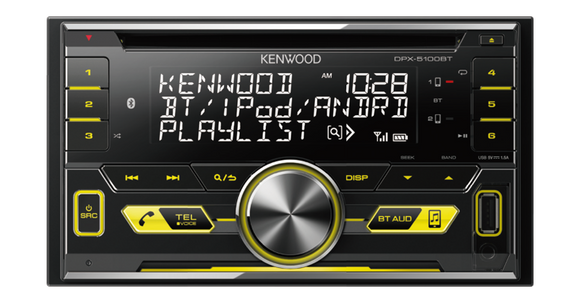 Kenwood DPX-5100BT Dual Din, USB/CD Receiver High Voltage 4.0V / 3-preouts