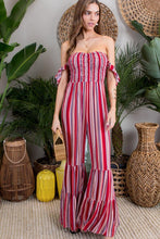 Load image into Gallery viewer, Valentína Smocked Bell Flare Jumpsuit
