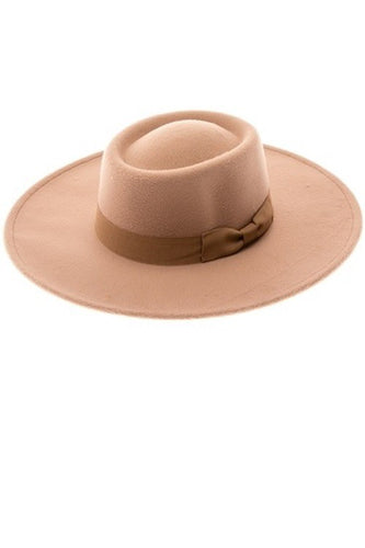 Falon Boater Hat - Taupe