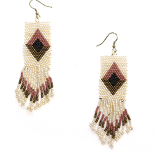 Load image into Gallery viewer, Kaia Tribal Fringe Earrings