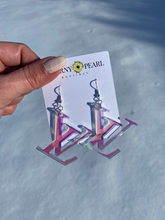 Load image into Gallery viewer, Iridescent Mono Acrylic Earrings