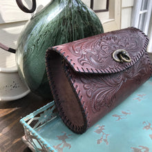 Load image into Gallery viewer, Yazmine Leather Crossbody/Clutch (Merlot)