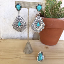 Load image into Gallery viewer, Loretta Turquoise Boho Earrings