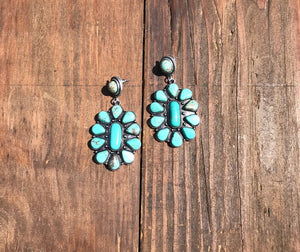 Masie Squash Blossom Cluster Earrings