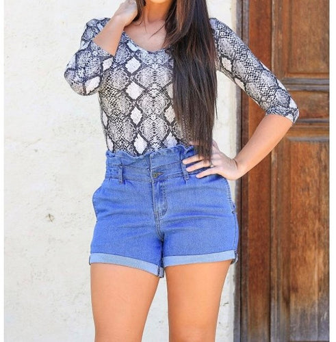 Daisy Highwaisted Denim Shorts