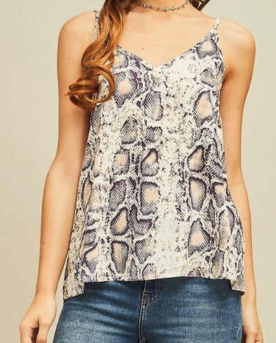 Camilla Snake Print Camisole Top