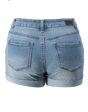 Load image into Gallery viewer, Marcella Distressed Rolled Up Vintage Denim Shorts