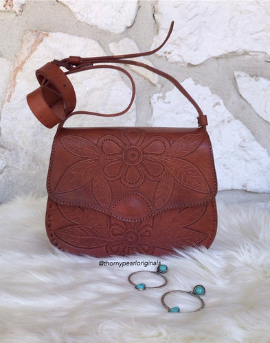 Como La Flor Mexican Leather Crossbody